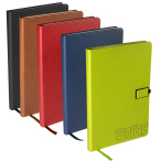 "Tuscany™ Journal with Magnetic Badge Closure  Notebook - 5.75""w x 8.25""h x 0.625""d"