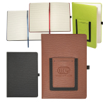"Modena Journal w/ Phone Pocket Notebook - 5.625""w x 8.25""h x 0.625""d"