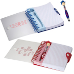 "Patriotic MopTopper™ Pen & Notebook Set - 6""w x 7""h x 0.787""d"