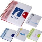 "Emoti™ MopTopper™ Pen & Notebook Set - 6""w x 7""h x 0.787""d"