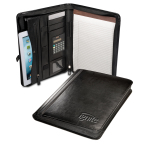 "Alpha™ Zip-Around Portfolio with Tablet Case and Calculator - 10""w x 13.25""h x 1.5""d"