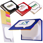 "Logo-Burst™ Sticky Book™  - 4-1/8""w x 3-1/8""h x 3/4""d"