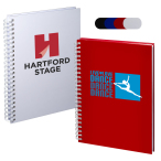 "Hardcover Spiral Notebook - 5-3/4""w x 8-1/4""h x 1/2""d"