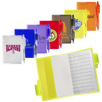 """Clear-View Jotter Notebook with Pen - 3.375""""w x 4.125""""h x 0.25""""d"""