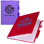 "Clear-View Notebook with Pen - 5""w x 7""h x 1/4""d"