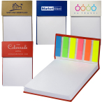 "Hard Cover Sticky Flag Jotter Pad Notebook - 4""w x 6""h x 1/2""d"