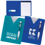 "SwanKy™ Scrubs Junior Writing Pad With Stethoscope Pen - 4.875"" w x 7.75"" h"