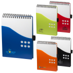 "PP Two Tone Dot Jotter - 5"" w x 7"" h x .25"" d"