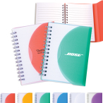 "Medium Spiral Curve Notebook - 4.25"" w x 5.25"" h x .5"" d"