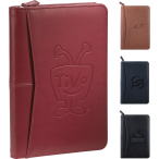 "Pedova™ Jr. Zippered Padfolio - 9.5"" H X 6.5"" W X 1"" D"