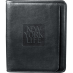 "Manhattan Zippered Padfolio - 13"" H X 1.25"" W X 10.5"" D"