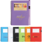"5.5"" x 7"" Star Spiral Notebook - 7"" H X 5.375"" W"