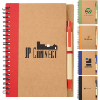 "5"" x 7"" Eco Spiral Notebook with Pen - 7"" H X 5.125"" W"
