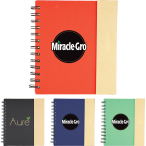 "6.5"" x 7"" Lock-it Spiral Notebook - 7"" H X 6.5"" W"