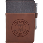 "Alternative® Canvas Leather Wrap Bound Notebook - 8.5"" H X 5.5"" D"
