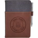 "Alternative® Canvas Leather Wrap Bound Notebook - 8.5"" H X 5.5"" D"