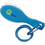 Hair Brush w/ Carabiner & Hair Elastics
