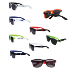 Two-Tone Glossy Sunglasses