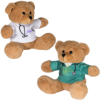 "7"" Doctor or Nurse Plush Bear Stuffed Animal"