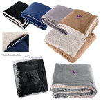 "Micro Mink Sherpa Blanket - 50"" w x 60"" h"