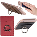 Tuscany™ Smartphone ID Card Holder w/Metal Ring Phone Stand