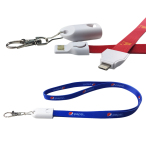 Printed Lanyard 2-in-1 Charging Cable for Micro and Lightning
