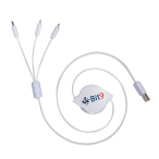 3-Way Retractable Noodle USB Charing Cable