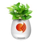 Smart Music Flowerpot Bluetooth Speaker with LED Light