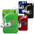 Mobile Device Pocket & Earbuds Set