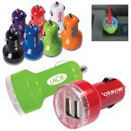 2 In-1 USB Car Adapter