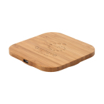 Custom Square Bamboo Wireless Charger - 5W