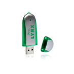 Plastic and Metal Double Material 8 GB USB Drive