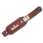 Magnetic Leather USB Drive 4 GB