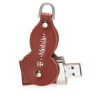 Leather Swivel USB Flash Drive 1 GB