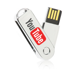 Metal Swivel USB Flash Drive 1 GB