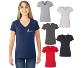 Fruit of the Loom® Sofspun® Ladies Junior Fit V-Neck T-Shirt