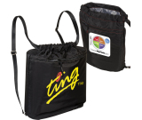 """Monaco™ Strap Polyester Backpack - 17.5""""w x 16.75""""h x 5.25""""d"""
