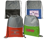 """Two-Tone String-A-Sling Backpack - 14-1/2""""w x 18""""h"""
