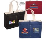 "Tacoma Canvas Tote Bag - 16""w x 12-1/2""h x 4-3/4""d"