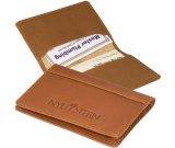 "Fire Island Business Card Case (Sueded Full-Grain Leather) - 4""w x 2-3/4""h x 1/8""d"