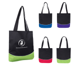 "Color Curve Accent Panel Tote - 12.5"" W x 13.75"" H"