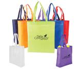 "Heat Sealed Non-woven Value Tote w/ Gusset - 13.5"" W x 15"" H x 4.25"" D"