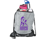 "Graphite Hook Drawstring Bag - 19"" H X 15"" D"