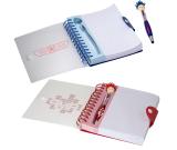 "Patriotic MopTopper™ Pen & Notebook Set - 6""w x 7""h x 0.787""d"