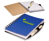 """Eco Easy Notebook/Pen Combo - 5""""w x 7""""h x 0.5""""d"""
