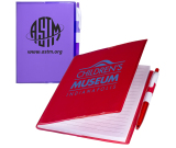 """Clear-View Notebook with Pen - 5""""w x 7""""h x 1/4""""d"""
