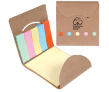 "Pocket Sticky Note Memo Book - 3.25"" w x 3.375"" h x .125"" d"