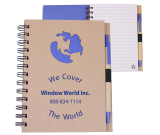 "Ecoshapes™ Recycled Die Cut NoteBook: Globe - 5.875"" w x 7"" h x .5"" d"