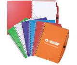 """Spiral Notebook With Pen - 5.75"""" w x 7.125"""" h x .5"""" d"""