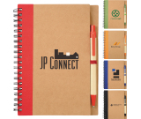 """5"""" x 7"""" Eco Spiral Notebook with Pen - 7"""" H X 5.125"""" W"""